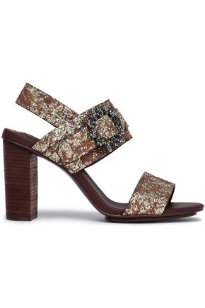 SEE BY CHLOÉ Embellished glittered woven sandals