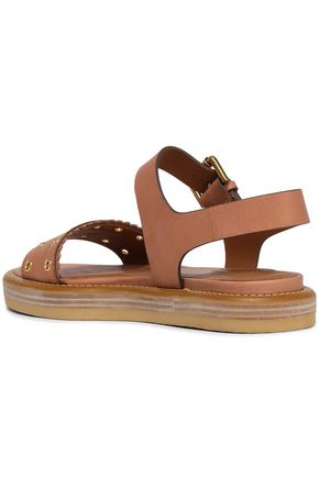 SEE BY CHLOÉ Eyelet-embellished leather sandals