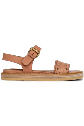 Eyelet Embellished Leather Sandals by See By ChloÉ