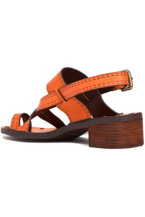 SEE BY CHLOÉ Embossed leather slingback sandals