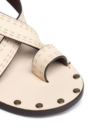 SEE BY CHLOÉ Laser-cut leather sandals