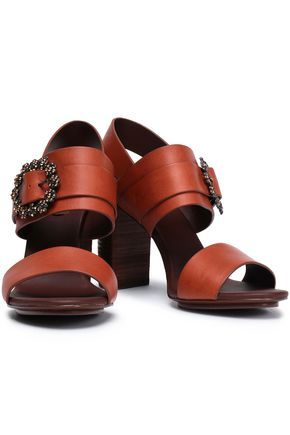 SEE BY CHLOÉ Buckle-embellished leather sandals