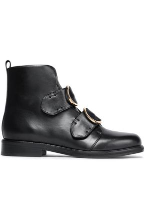 MAJE Buckled leather ankle boots