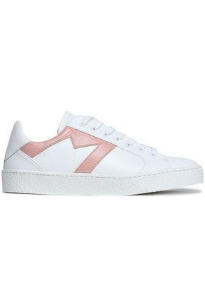MAJE Frenchy appliquéd leather sneakers