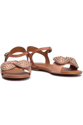 SEE BY CHLOÉ Studded bow-embellished leather sandals