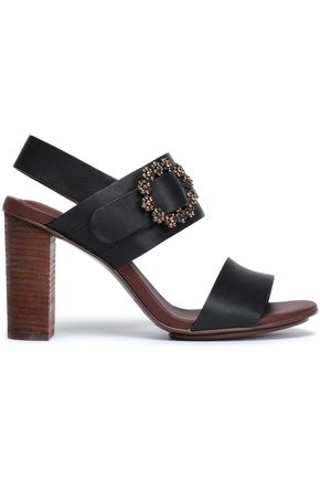 SEE BY CHLOÉ Rosie buckle-embellished leather slingback sandals