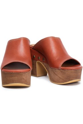 SEE BY CHLOÉ Studded leather clogs