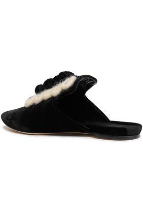 SANAYI 313 Embroidered velvet slippers