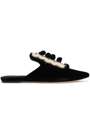 SANAYI 313 Embroidered velvet slippers