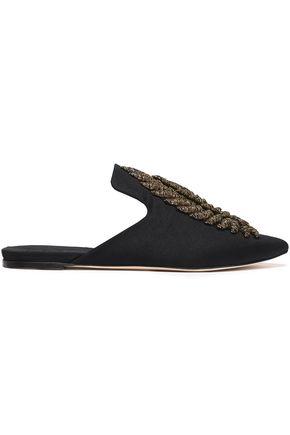 SANAYI 313 Metallic embroidered woven slippers