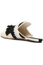 SANAYI 313 Fringed raffia and canvas slippers