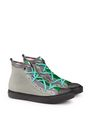 LANVIN Sneakers Man CANVAS AND VELVET HIGH-TOP SNEAKER f