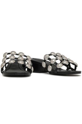 ALEXANDER WANG Studded leather mules