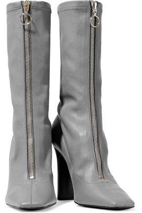 STELLA McCARTNEY Faux leather sock boots
