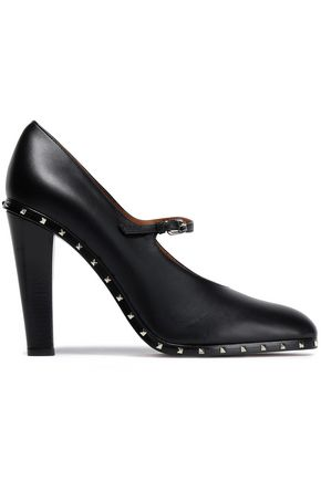 VALENTINO GARAVANI Studded leather Mary Jane pumps