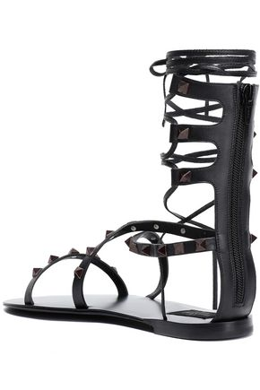 VALENTINO GARAVANI Studded leather sandals