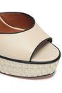VALENTINO GARAVANI Leather and raffia sandals