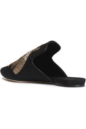 SANAYI 313 Embellished faille slippers