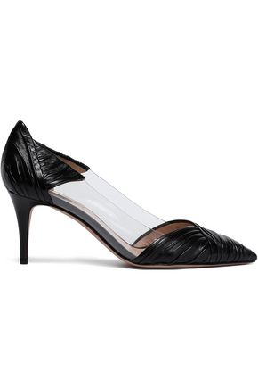 VALENTINO GARAVANI PVC and leather pumps