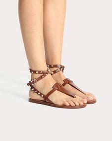 粒面小牛皮袢带夹趾凉鞋 5mm