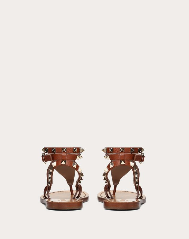 Grainy Leather Ankle Strap Sandal 5 mm