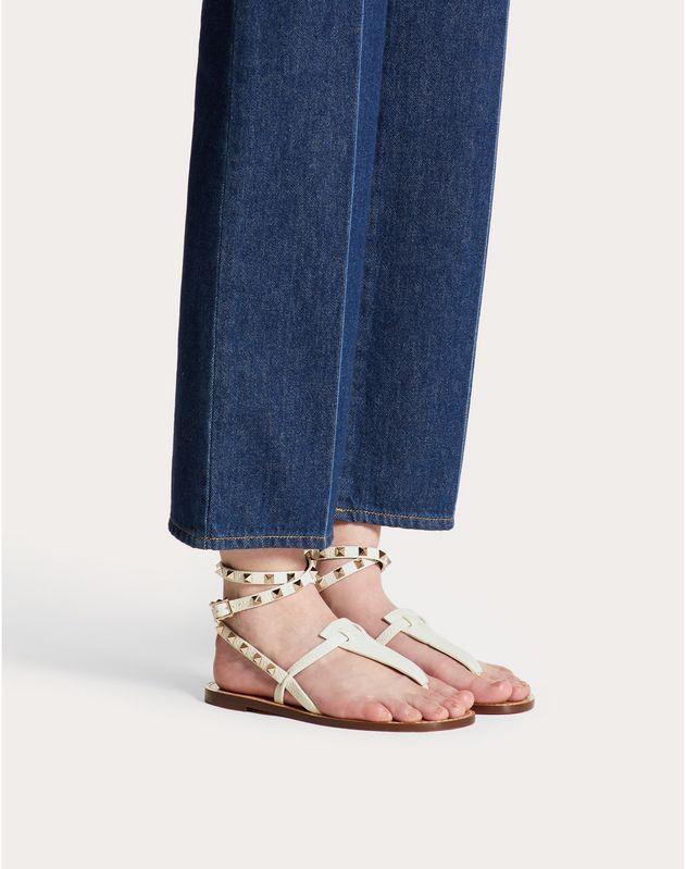 Grainy Leather Ankle Strap Flip Flop Sandal 5 mm