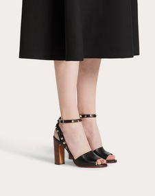 Grainy Calfskin Ankle Strap Sandal 100 mm
