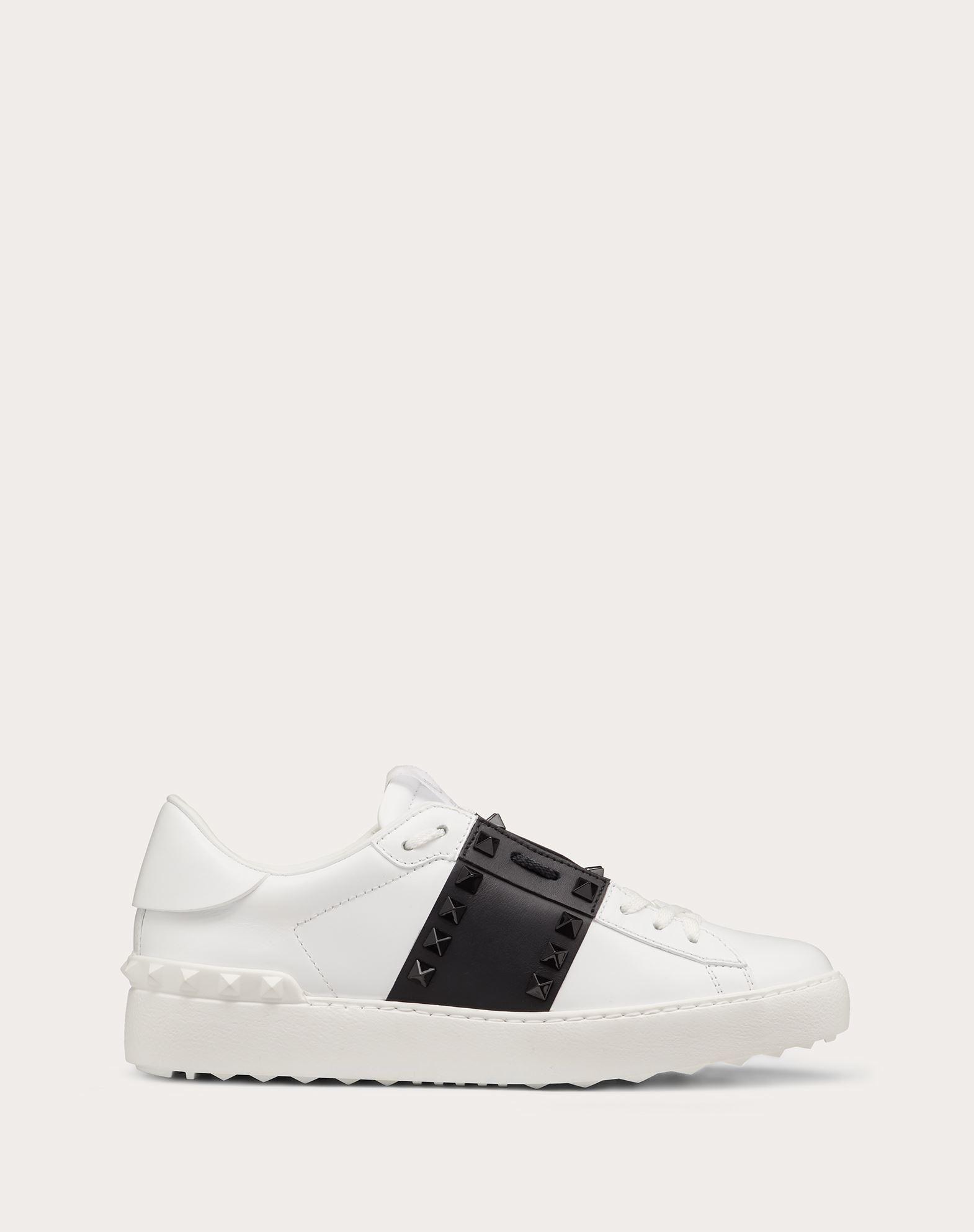 Sneaker Rockstud Untitled in vitello con borchie in tono