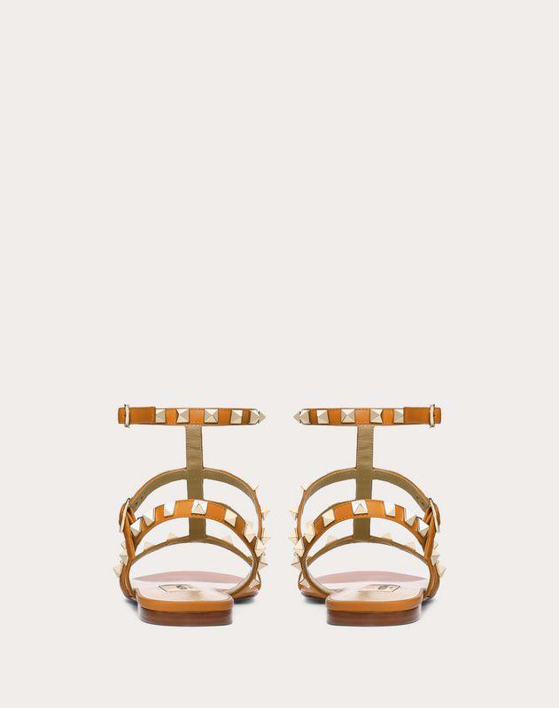 Rockstud Ankle Strap Flat Sandal