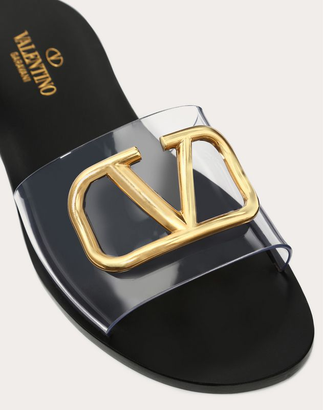 Slide Sandal with Go Logo Detail
