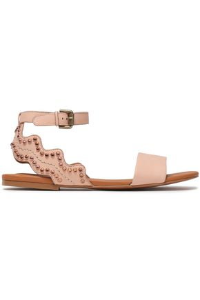 857a366cd2a96 SEE BY CHLOÉ Crystal-embellished leather sandals