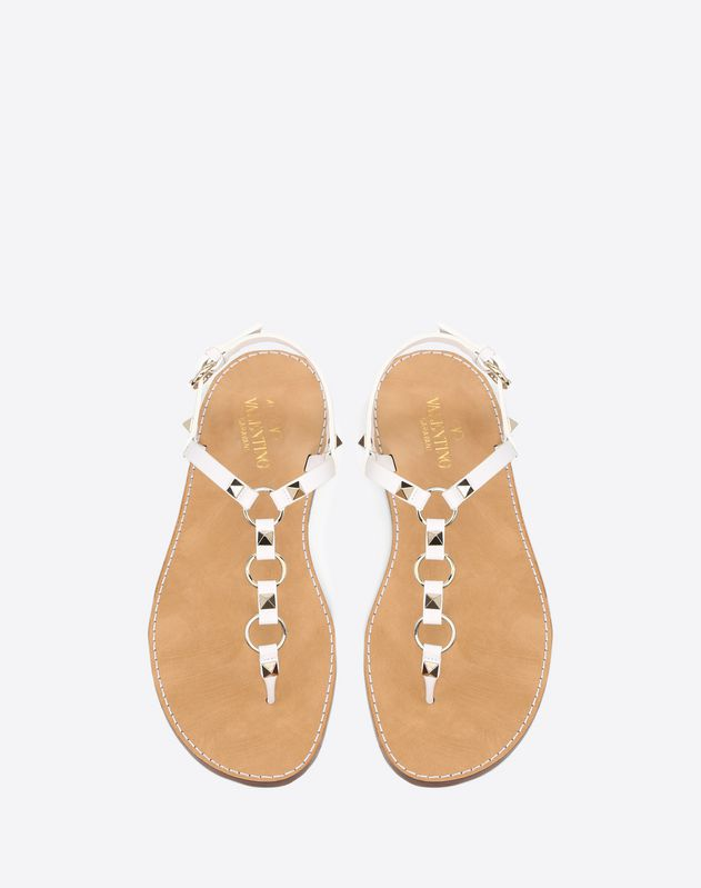 Sandal with Rings and Studs