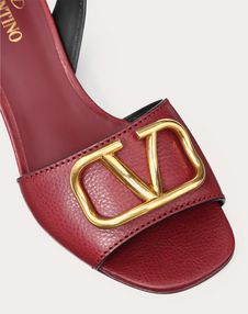 Grainy Cowhide Sandal with VLOGO Detail 60mm