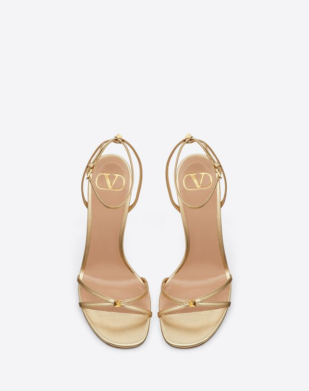 VLOGO Thin Strap Laminated Nappa Sandal 100 mm
