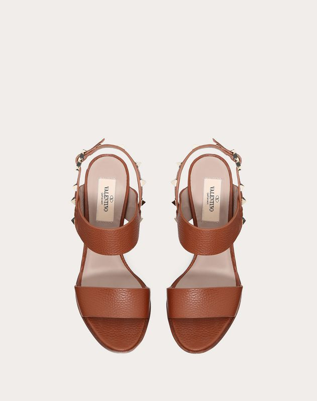 Grainy Leather Slingback Sandal 85 mm
