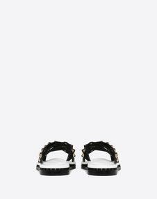 Flat Slide Sandal with Crossover Straps