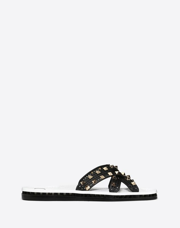 36f97bb94 Flat Slide Sandal with Crossover Straps ...