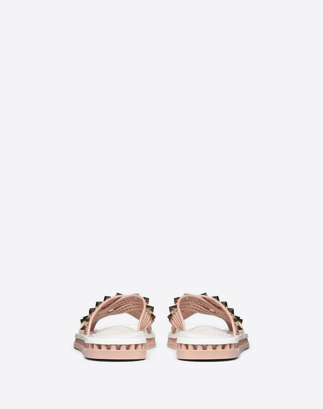 Flat Slide Sandal with Crossover Straps
