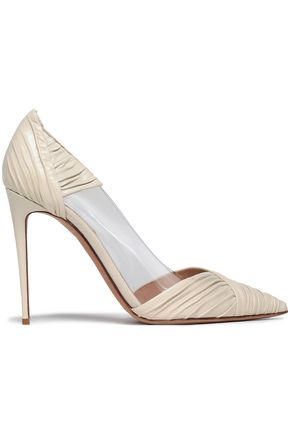 Ruched Leather And Pvc Pumps by Valentino Garavani