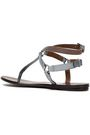 BRUNELLO CUCINELLI Bead-embellished metallic leather sandals