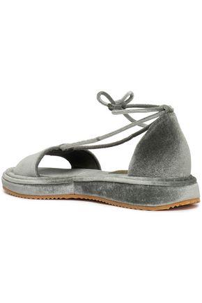 BRUNELLO CUCINELLI Velvet sandals