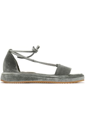 BRUNELLO CUCINELLI Velvet sandals