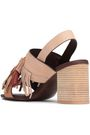 SEE BY CHLOÉ Tasseled leather and suede slingback sandals