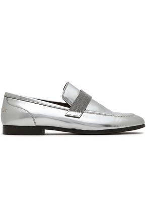BRUNELLO CUCINELLI Metallic leather moccasins