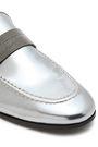 BRUNELLO CUCINELLI Metallic leather moccasins