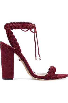 SCHUTZ Braided suede sandals