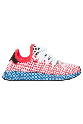 ADIDAS ORIGINALS Deerupt Runner suede-trimmed stretch-mesh sneakers