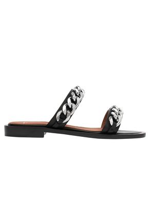 GIVENCHY Chain-embellished leather sandals