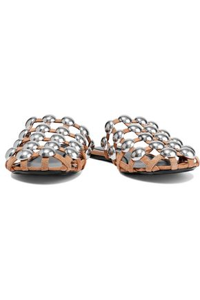 babb6cc4c0e0d ALEXANDER WANG Amelia studded suede slippers