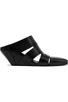 RICK OWENS Lazarus cutout leather wedge sandals